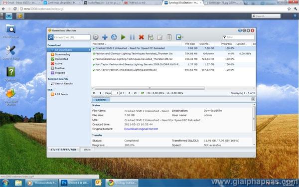Download Station, tìm kiếm Torrent trong 30 giây, tải về không