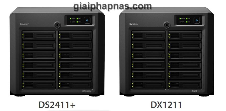 Synology DS2411+ và DX1211