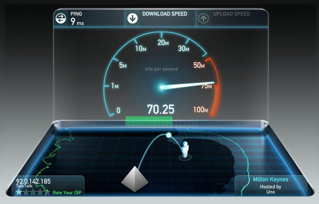 Đường truyền mạng lớn giúp việc trao đổi thông tin nhanh chóng