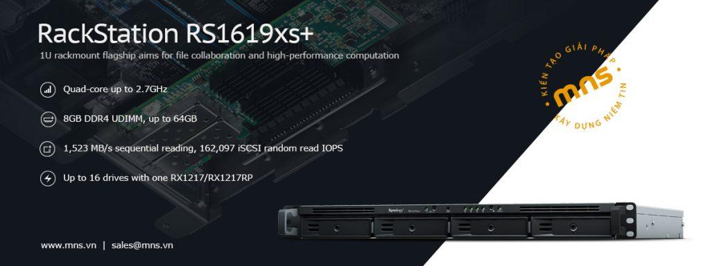 Synology RS1619xs+ lưu trữ ảo hoá với hiệu suất vượt trội