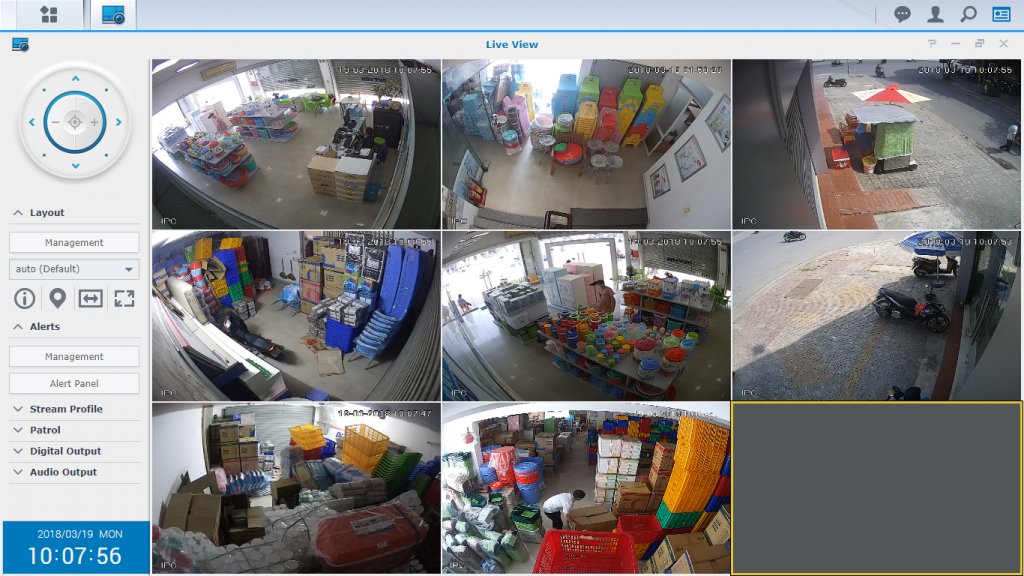Camera giám sát kho hàng tại showroom nhựa Duy Tân Đà Nẵng